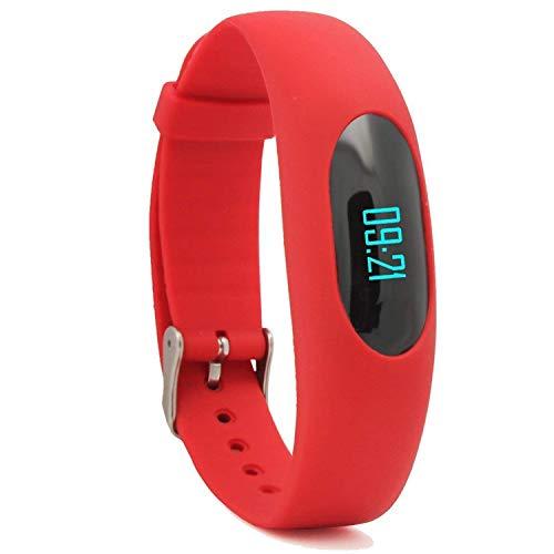 YAMAY Fitness Armband Schrittzähler Armbanduhr Ohne Bluetooth Aktivitätstracker mit Zeit Dtum Schrittzähler Kalorienzähler Entfernungsrechner Schlafmonitor für Damen Kinder Herren Ohne App Handy