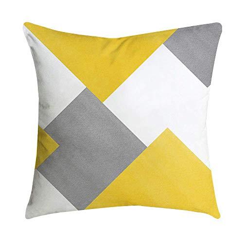Pingrog Fenverk luxe huisvrouw kussensloop anti-stof eenvoudige stijl mijt anananas blad geel sofa auto taille werpen bekleding afdekking wooncultuur kerst(A)
