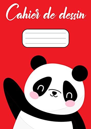 Cahier de dessin A4: Grand carnet A4 de dessin pour enfants, 100 Grandes Papiers Blancs Pour Dessin, format A4, motif Panda