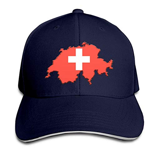 Trucker Sombrero Bandera-Mapa De Suiza Gorra De Béisbol Transpirable Sombrero Deportivo para Corriendo Béisbol Hip Hop