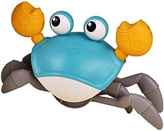 JVSISM Cartoon Baby Bath Toys Cute Swim Big Crab Cable Learning to Walk Bathtub Clockwork Toys Infant Water Toy(Blue)