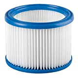 Filterelement, Filterpatrone Filter Ersatz für Nilfisk Alto Wap Aero Attix 20 21 25 26 31 VL200 30 30-01 30-11 30-21, Stihl SE 60, SE 61, SE 85 C, SE 90 SE 161 E Staubsauger 185 x 140 mm