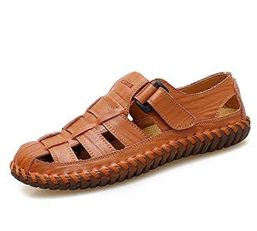 ML S HJDY Sandalias de verano para hombre, estilo casual, playa, zapatos de hombre, sandalias de cuero de la PU, sandalias de moda para hombre, A, 42