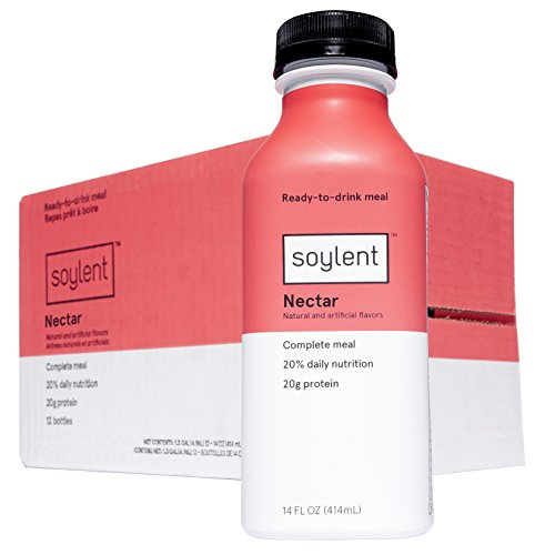 Soylent Meal Replacement Drink, Nectar, 14 Fl Oz (Pack of 12)