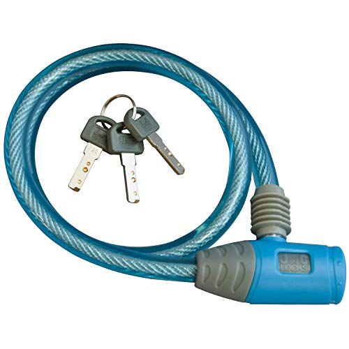 ワイヤー錠 JC-020W-600 BL ブルー