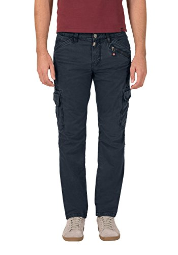 Timezone Herren Hose Regular Ben Cargo, Blau (Dark Night Blue 3115), W33/L32