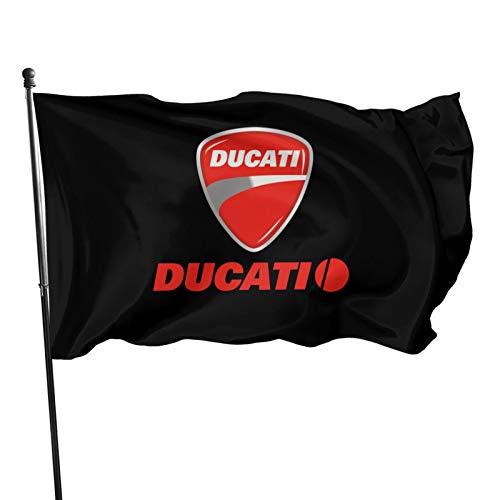 YeeATZ Ducati Monster Motorcycle Logoflag 3x5 Ft Fahnen Flagge Flag Banner Polyester Material Gartenbalkon Gartendekoration Im Freien 90x150cm