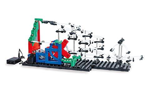 Mechanische Kugelbahn zum selber bauen | Murmelbahn mit Looping | Elektrische Kugelachterbahn Bausatz mit Zubehör Kugel | Konstruktionsspielzeug für Kinder Erwachsene ab 10 Jahre