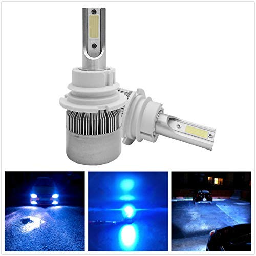 Torofibi Ice Blue Color LED Headlight Bulbs Conversion Kit - 9007 HB5 Hi/Lo Dual Beam, 72w 7600lm 6000K Cool Blue LED Headlights Replacement All-in-One Conversion Kit