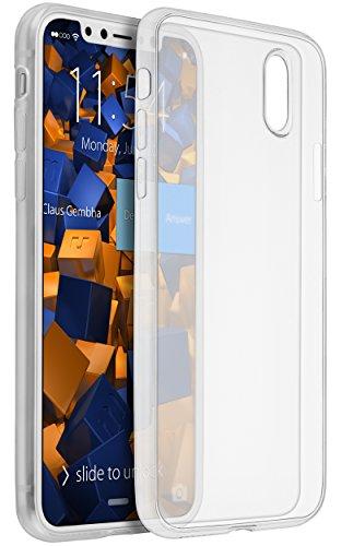 mumbi Hülle kompatibel mit iPhone 7 Plus / 8 Plus Handy Case Handyhülle dünn, transparent weiss