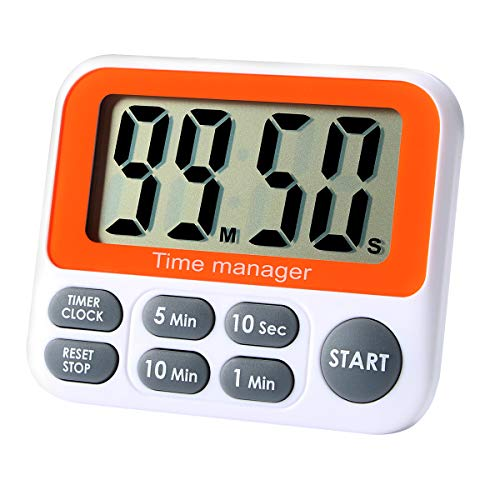 Digital Countdown Kitchen Timer - AIMILAR Count Up Down Magnetic Timer Clock with Alarm Fast Setting for Cooking Baking Students