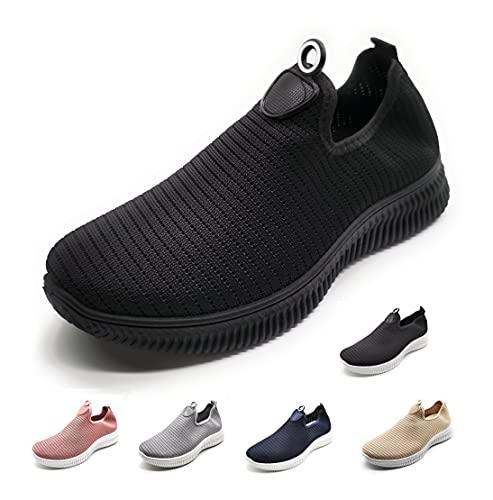 Zapatillas Deportivas para Mujer sin Cordones Muy Transpirables Negro 40