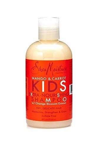 SHEA MOISTURE - Mangue & Carotte - Shampooing pour Enfants - Extra nourrissant - Nettoie en douceur - Districts et adoucit les cheveux - Renforce les cheveux - Ingrédients naturels - 236ml