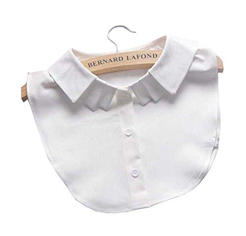 Black Temptation Faux col détachable col Chemisier moitié Chemises Collier Faux col pour Les Femmes, Un