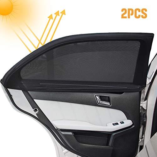 Infreecs Kinder Auto-Sonnenschutz(2 Stück), Auto Sonnenschutz Selbsthaftende Sonnenblenden für Seitenfenster, blockt mehr als 97% der schädlichen UV-Strahlung Baby Autosonnenschutz passt universell
