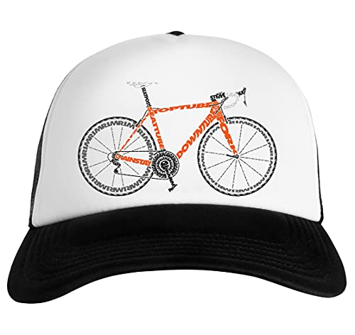 Luxogo Tipográfico Anatomía De Un La Carretera Bicicleta Gorra De Béisbol Unisex Baseball Snapback Cap