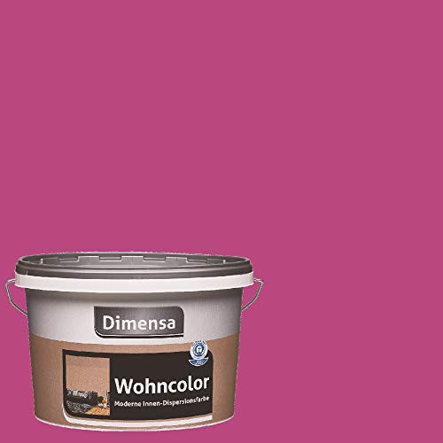 Dimensa Wohncolor bunte Wandfarbe purpur rot lila 2,5 Liter