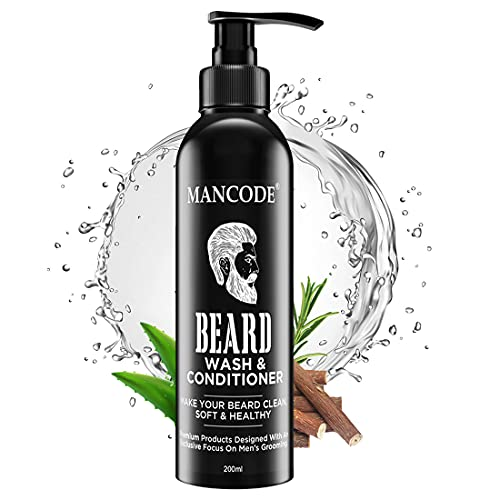 MAN CODE Beard Wash & Conditioner For Beard Clean, Soft & Healthy, Nourishes, 200 Ml