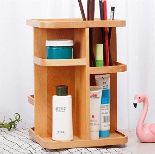 ASDFGH 360 ° Bambus Kosmetik und Kosmetik-Manager, Speicherplattenspieler von Dresser, Bad, Abstellraum, Küche, Desktop, Aufsatz- und Schreibtisch (Size : M)