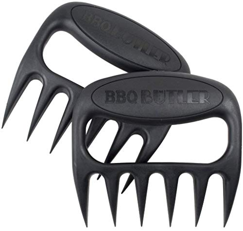 BBQ Butler Meat-Shredding Claws – Easily & Safely Pull Pork & Chicken – Sharp Meat Shredder Claws – Grill Tools
