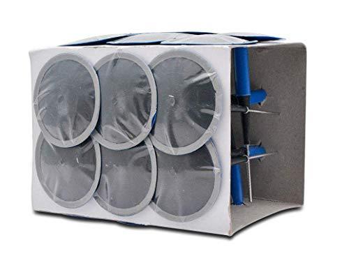 MASO - Parche Universal para reparación de pinchazos de neumáticos de Coche, 24 Unidades, 6 mm, con Enchufe Integral, para automóviles, Motocicletas, Camiones, remolques, autobuses