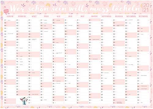 Großer rosa Wandkalender 2021 in DIN A1 (84 x 59,4 cm) für zu Hause oder das Büro. Rosa XXL Wandplaner, Jahreskalender für 12 Monate 2021. ... gesetzlichen und nicht-gesetzlichen Feiertage