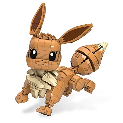 Mega Construx Pokemon Jumbo Eevee Construction Set with Character Figures, Building Toys for Kids (824 Pieces)