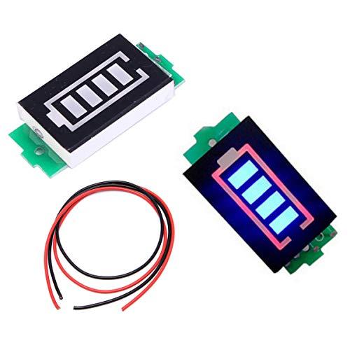 Youmile 2PACK 3S 12,6 V Batteriekapazität-Anzeigemodul Lithium-Lipo-Batteriekapazität-Tester Li-Ion-Modul 4 Abschnitte Blaue LED-Anzeige Elektrofahrzeug