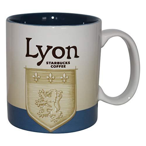 Starbucks Lyon France Lyon France - Taza de café con diseño de Lyon France