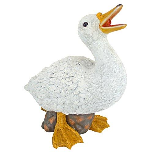 Design Toscano QM2855000 Darnell The Duck Spitter Piped Statue, Full Color