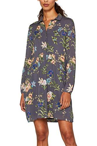 ESPRIT Damen 089Ee1E016S Kleid, Grau (Dark Grey 020), (Herstellergröße: 38)