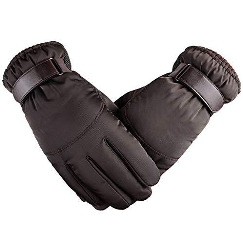 HSKB winterhandschoenen, warmer gebreide stretch gebreide handschoenen, winddicht, antislip, ademend, thermohandschoenen, heren