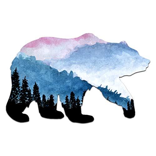 """Northern Dock Bear Vinyl Decal Outdoor Adventure Mountain Bear Bumper Sticker (5"""" Wide)"""