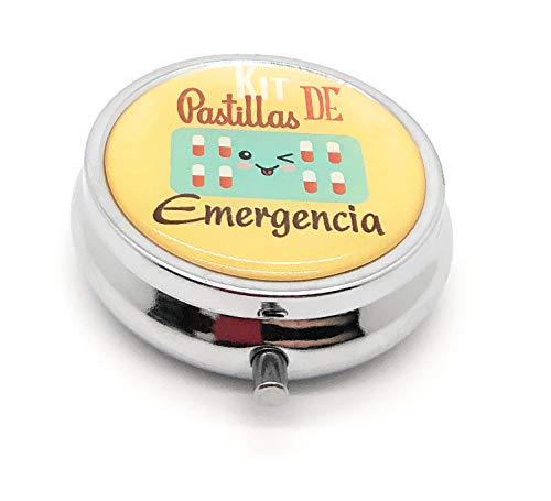 MovilCom® Pastillero diario de bolsillo organizador 3 compartimentos, pastillero organizador pastillas toma diaria, caja medicamentos (mod.653306)