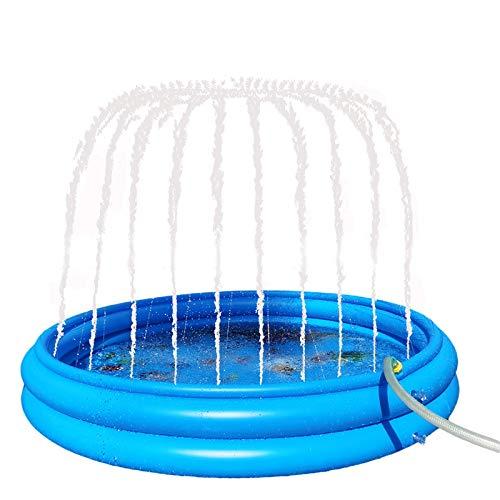 ZCWMALL Almohadilla para salpicaduras, aspersor para niños y piscina para bebés, juguetes acuáticos redondos, regalos para niños/niñas, alfombrilla para niños pequeños