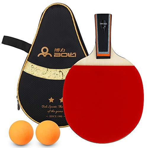 Lixada Raquetas de Tenis de Mesa 2 Estrellas Bate de Tenis de Mesa de Goma de Doble Cara Pala de Ping Pong