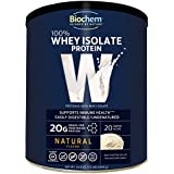 Biochem 100% Whey Isolate Protein - Natural Flavor - 24.6 oz - Pre & Post Workout - Meal Replacement - Keto-Friendly - 20g of Protein - Easily Digestible - Refreshing Taste - Easy to Mix