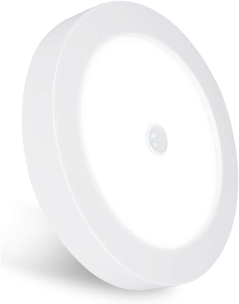 REYLAX® PIR Plafón LED, Con Sensor de Movimiento, Tres Temperaturas de Colors Preestablecidas Opcionales 12W 1000lm, Superficial Montaje, Driver Integrado Incorporado y Sensor de Luz