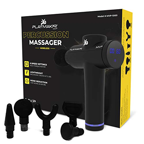 Massage Gun Personal Percussion & Vibration Handheld Massager by PlayMakar Deep Muscle...