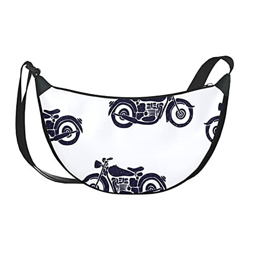ALALAL Bolso bandolera para niñas, bolsos de mano con locomotora eléctrica para motocicleta, bolsos de hombro para mujeres con cierre de cremallera para mujeres