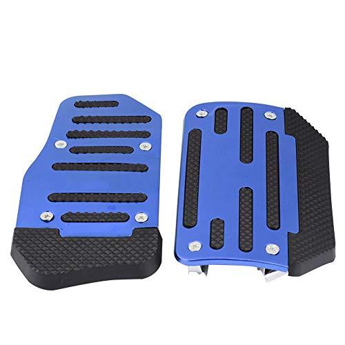 Coperchio del cuscinetto di accelerazione, coperchio del pattino dell'acceleratore in lega antiscivolo Coperchio del pedale del freno per veicolo automatico in auto(Blu)