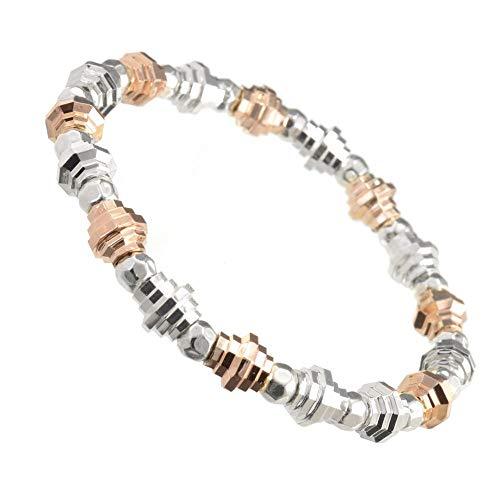 Gracee Fashion Bracelet: Multi-Tone Stretch Bracelet with a Edgy cog Design (GR42)