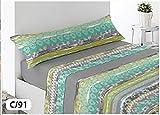 Energy Colors Textil-Hogar - Térmicas 8002 - Juego SÁBANAS Completo Polar 3 Piezas Pirineo...