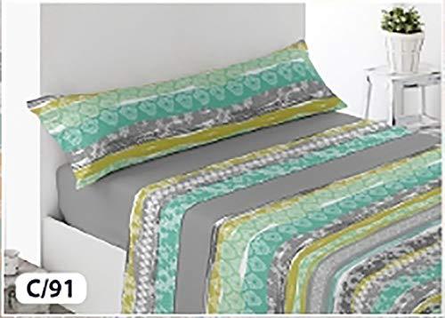 Energy Colors Textil-Hogar - Térmicas 8002 - Juego SÁBANAS Completo Polar 3 Piezas Pirineo Otoño-Invierno Doble Cara Calidad 150 g (Gris, Cama 150)