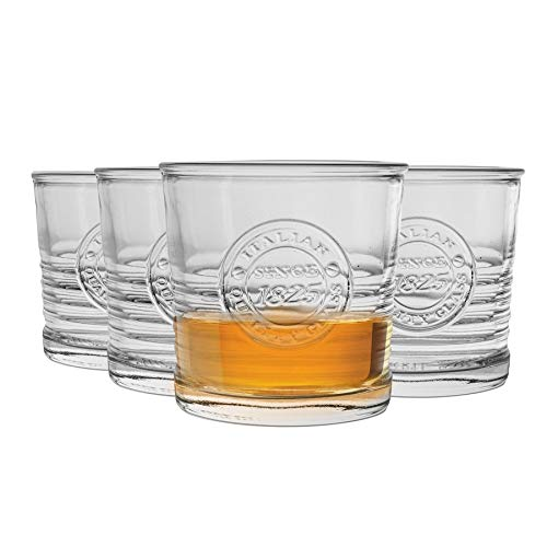 Bormioli Rocco Officina Double Old Fashioned Vasos para Whisky / Bebidas espirituosas - 300ml - 4 unidades