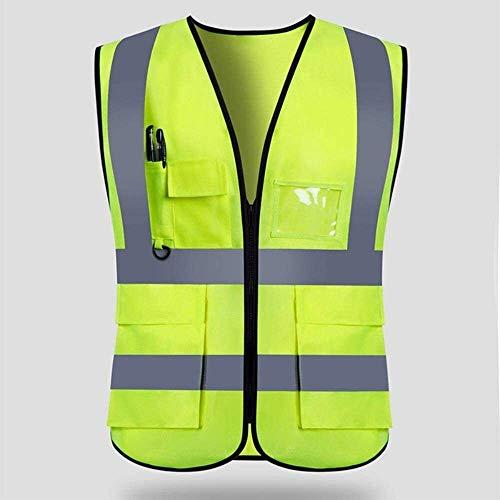 Outdoor zichtbaarheid reflecterend vest Vest Reflecterende Veiligheid Reflecterende Veiligheid Vesten for Night Werkkleding High Visibility werkkleding Man Vrouwen Outdoor Running Veilig en ademend ve