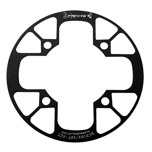 perfeclan Plato Ancho Ancho De Bicicleta De Montaña 104 BCD, Bicicleta De Carretera BMX MTB Piezas De Reparación De Anillo De Cadena De Manivela De Velocidad ún - Negro, 40-42T