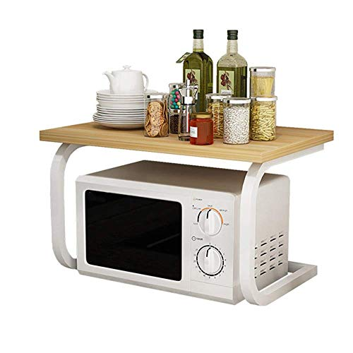 TANGIST Corner Table Stand Microwave Oven Stand Kitchen Microwave Oven Rack Desktop Stand Multifunction Space Organizer As Storage Kitchen Baker's Rack (Color : White, Size : 57X38X38CM) Microwave Sun