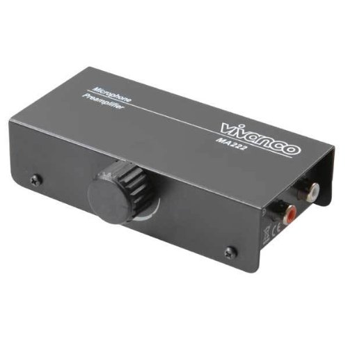 Vivanco MA225 Mikrofon Vorverstärker Inkl. Netzadapter) schwarz