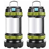 Camping Lantern Rechargeable , Alpswolf Camping Flashlight 4000mAh Power Bank,6 Modes, IPX4 Waterproof, Led Lantern...